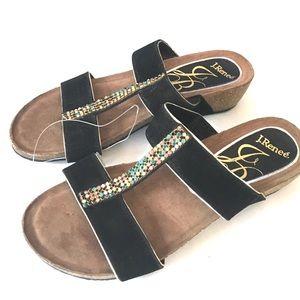 J. Renee | Rhinestone Wedge Sandals